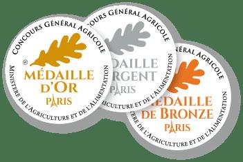 Les trois différentes médailles du CGA de Paris